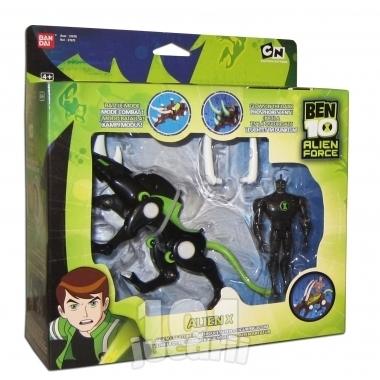 Set vehicul si figurina - Alien X