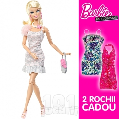 Papusa Barbie Pink cu accesorii