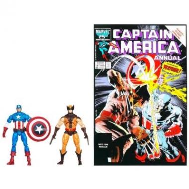 Set 2 figurine Wolverine & Captain America  10 cm
