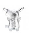Pokemon - jucarie de plus argintie, editie aniversara 25 ani, 30 cm