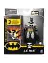 Figurina Batman 10cm cu costum gri si accesorii surpriza