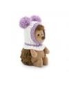 Fluffy, ariciul cu caciulita alb-violet, din plus, 15cm