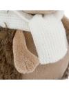 Fluffy, ariciul cu caciulita si fular alb-roz, din plus, 20cm