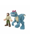 Imaginext Jurassic World dinozaur Allosaurus & figurina Ranger 15 cm