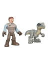 Imaginext Jurassic World Owen si Blue (7.5 cm/ 8 cm)