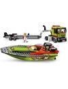 Lego City - Transportor de barca de curse