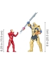 Marvel Avengers: Infinity War Iron Man vs Thanos, set 2 figurine 15-20 cm cu sunete