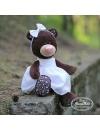 Milk, fetita ursulet in rochita brodata, din plus, 25cm