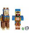 Minecraft, Craft-A-Block - Set 2 figurine Wandering Trader si Llama 8 cm