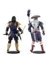 Mortal Kombat Set 2 figurine: Scorpion & Raiden 18 cm