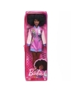 Papusa Barbie Fashionista cu parul afro si jacheta lila