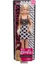 Papusa Barbie Fashionistas cu rochita alb negru