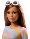 Papusa Barbie Fashionista cu rochita multicolora si ochelari de soare