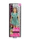 Papusa Barbie Fashionistas satena cu rochita verde