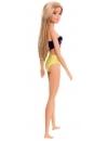 Papusa Barbie satena cu costum de baie multicolor