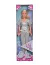 Papusa Steffi Glam Style cu hainute argintii
