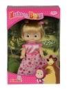 Papusica Masha cu rochita roz cu buline 12 cm