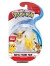 Pokémon Battle Mini Figures 2-Pack Eevee & Pikachu 5 cm