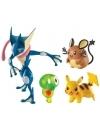 Pokemon, Greninja, Zygarde, Dedenne, Pikachu, set 4 figurine articulate