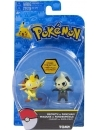 Pokemon, Meowth vs Pancham, set minifigurine 6 cm