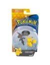 Pokemon, Set 2 figurine Pikachu vs Salandit 3-5 cm