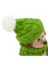 Prickle, ariciul cu caciulita si fular verde, din plus, 15cm