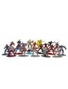 Set 20 de figurine metalice cu eroii Marvel si figurina Black Panther inclusa