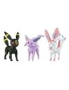 Set 3 figurine Espeon, Umbreon & Sylveon 6 cm
