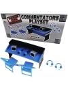 Set WWE Locul Comentatorilor - 'Commentators Playset' (Blue)