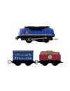 Thomas and Friends - locomotiva Gustavo motorizata cu 2 vagoane si accesorii