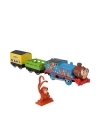 Thomas & Friends - Locomotiva motorizata safari Monkey Thomas