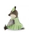 Vrabiuta Grace in rochita verde avocado, din plus, 20cm