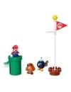 World of Nintendo Super Mario Diorama Set Acorn Plains