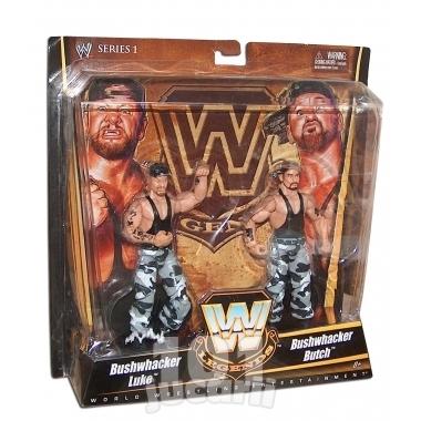 Set figurine WWE Luke si Butch Bushwhacker