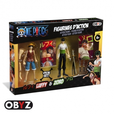 Set 2 figurine,  Luffy & Zoro, 12 cm