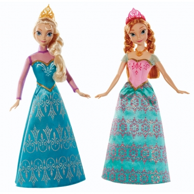 Frozen Dolls, 2-Pack Royal Sisters 30 cm