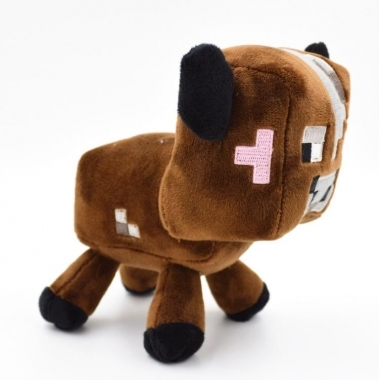 Jucarie plus Minecraft,  Brown Cow 15 cm