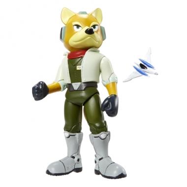 Super Mario, Figurina Fox McCloud 10 cm cu accesorii