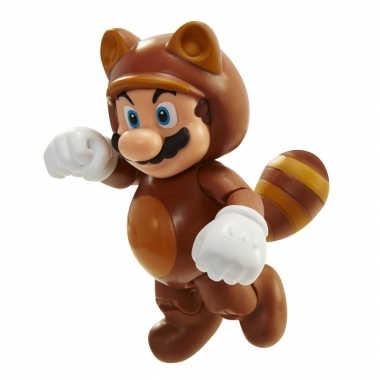 Tanooki Mario, Figurina articulata 10 cm cu accesorii