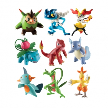 Pokemon Action Figures 3-pack 6 cm