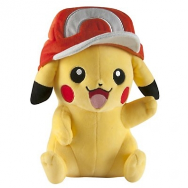 Pokemon, Pikachu with Ash Cap jucarie plus 25 cm