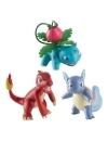 Set 3 figurine Charmeleon, Wartortle & Ivysaur, 6 cm