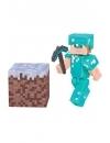 Minecraft 2016, Alex In Diamond Armor 8 cm cu accesorii