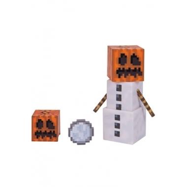 Minecraft 2016, Figurina Snow Golem 8 cm cu accesorii