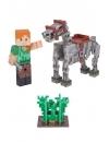 Minecraft 2016. Figurina Alex with Skeleton Horse 8 cm