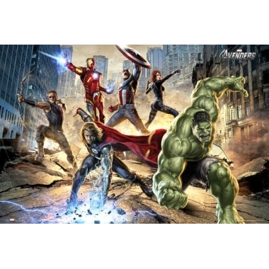 The Avengers - Strike Poster, 61 x 91 cm