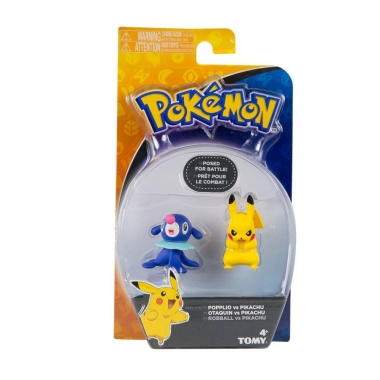 Pokemon Popplop vs Pikachu, minifigurine 6 cm