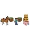 Set 3 figurine Minecraft cu accesorii
