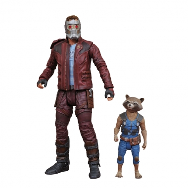 Marvel Select, Set Figurine Star-Lord & Rocket Raccoon 18 cm