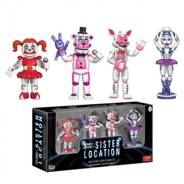 Five Nights at Freddy's, Set 4 minifigurine Sister Location 5 cm